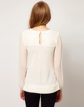 Image 2 ofA Wear Lace Yoke Top
