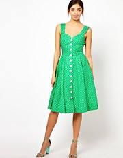 Emily &amp; Fin Button Up 50s Skater Dress