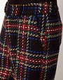 Image 3 of ASOS Tartan Pants In Wide Leg