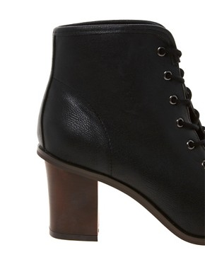 Image 2 ofRiver Island Lace Up Peep Toe Boots