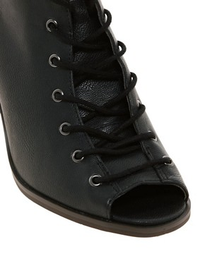 Image 3 ofRiver Island Lace Up Peep Toe Boots