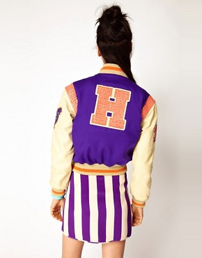 Image 2 ofHouse of Holland X Schott Varsity Jacket