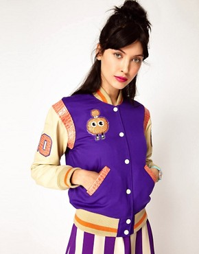 Image 1 ofHouse of Holland X Schott Varsity Jacket