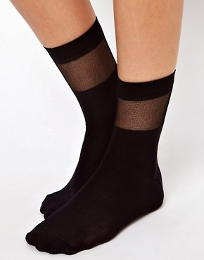Image 2 ofASOS Sheer Stripe Sock