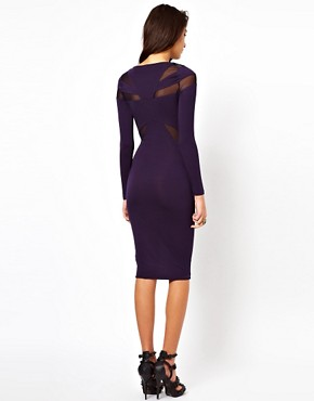 Image 2 ofASOS Midi Dress With Sequins And Mesh