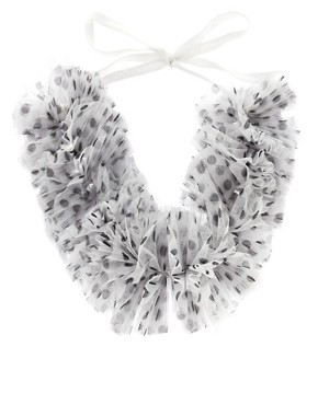 Image 2 of ASOS Polka Dot Ruffle Collar