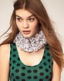 Image 1 of ASOS Polka Dot Ruffle Collar