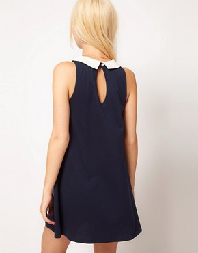 Image 2 ofASOS Swing Dress With Collar