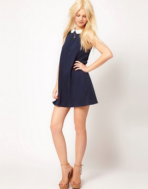 Image 4 ofASOS Swing Dress With Collar