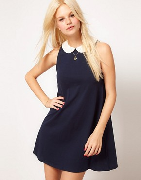 Image 1 ofASOS Swing Dress With Collar