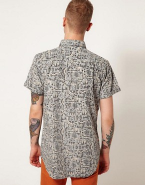 Image 2 ofAfends Shirt Cribbin Short Sleeve All Over Reverse Print