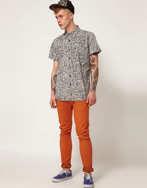 Image 4 ofAfends Shirt Cribbin Short Sleeve All Over Reverse Print