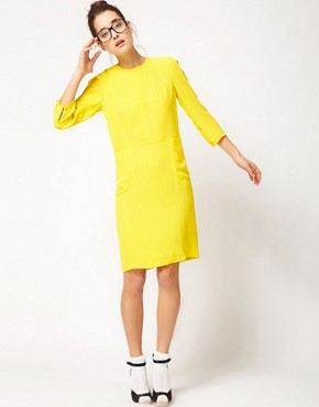 Image 4 ofPeter Jensen Classic Dress With T Dart Detail