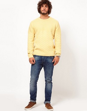 Image 4 ofPaul Smith Jeans Basket Weave Jumper