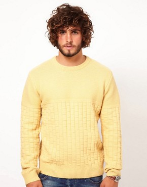 Image 1 ofPaul Smith Jeans Basket Weave Jumper