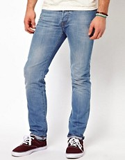 Vaqueros pitillo en lavado claro de Paul Smith Jeans