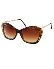 ASOS Chunky Cat Eye Sunglasses With Metal Arms