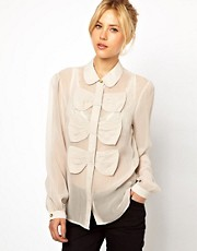 ASOS Blouse With Triple Bow Front
