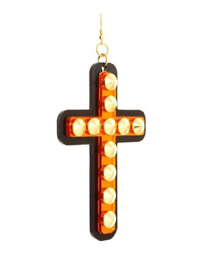 Image 3 ofFunky Bling Oversized Cross Earrings