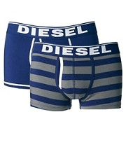 Diesel - Confezione di 2 boxer aderenti a righe