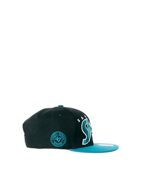Image 4 of47 Brand Snapback Cap San Jose Sharks
