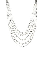 Pieces Maggie Multi Drop And Diamante Necklace