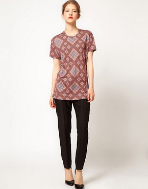 Image 4 ofJonathan Saunders Boyfriend Tee in All Over Print
