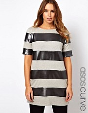 ASOS CURVE Shift Dress With Metallic Stripe