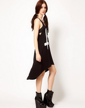 Image 1 ofHearts &amp; Bows Cross Dress with Dip Hem