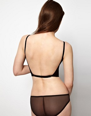 Image 2 ofKallisti by Marios Schwab for ASOS Inc Mesh Backless Bra Top