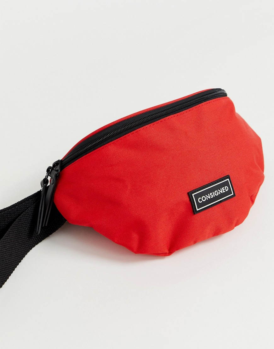 consigned - Gürteltasche mit Logo - Rot