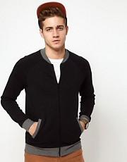 ASOS Bomber With Contrast Ribs
