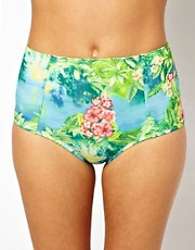 ASOS Hawaii Print High Waisted Bikini Pant