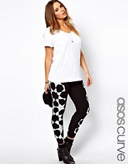 ASOS CURVE Legging In Kaleidoscope Foil Star
