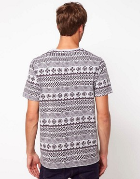 Image 2 ofRiver Island T-Shirt in Aztec Marl