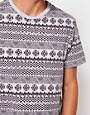 Image 3 ofRiver Island T-Shirt in Aztec Marl