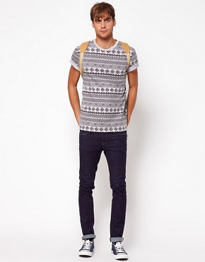 Image 4 ofRiver Island T-Shirt in Aztec Marl