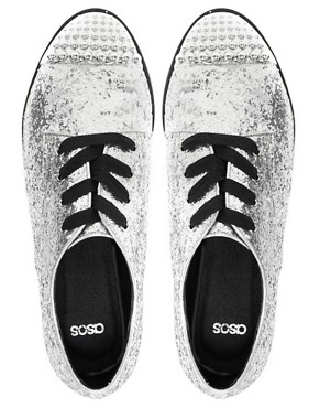 Image 3 ofASOS MILLIE Flat Shoes with Metal Toe Cap
