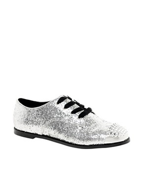 Image 1 ofASOS MILLIE Flat Shoes with Metal Toe Cap