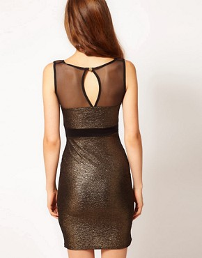 Image 2 ofA Wear Mesh Panel Bodycon Dress