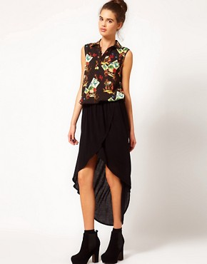 Image 1 ofRiver Island Wrap Maxi Skirt
