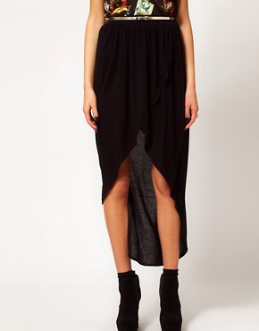 Image 4 ofRiver Island Wrap Maxi Skirt