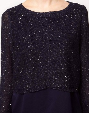 Image 3 ofOasis Mixed Sequin Jumper Dress