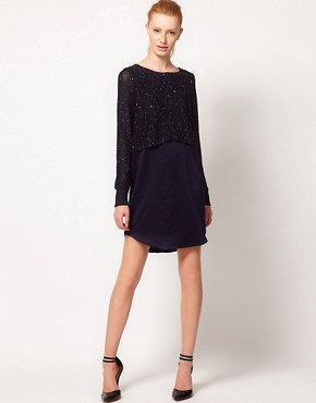 Image 4 ofOasis Mixed Sequin Jumper Dress