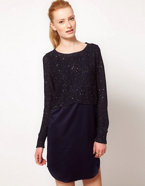 Image 1 ofOasis Mixed Sequin Jumper Dress