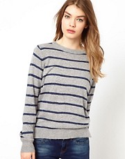 Oasis Stripy Jumper With Zip