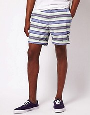 ASOS Striped Oxford Shorts