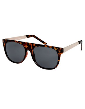 Image 1 of ASOS Flat Brow Sunglasses