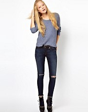 Rag & Bone/Jean Distressed The Skinny Jeans