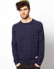 Jack & Jones Sweater With Chambray Pocket